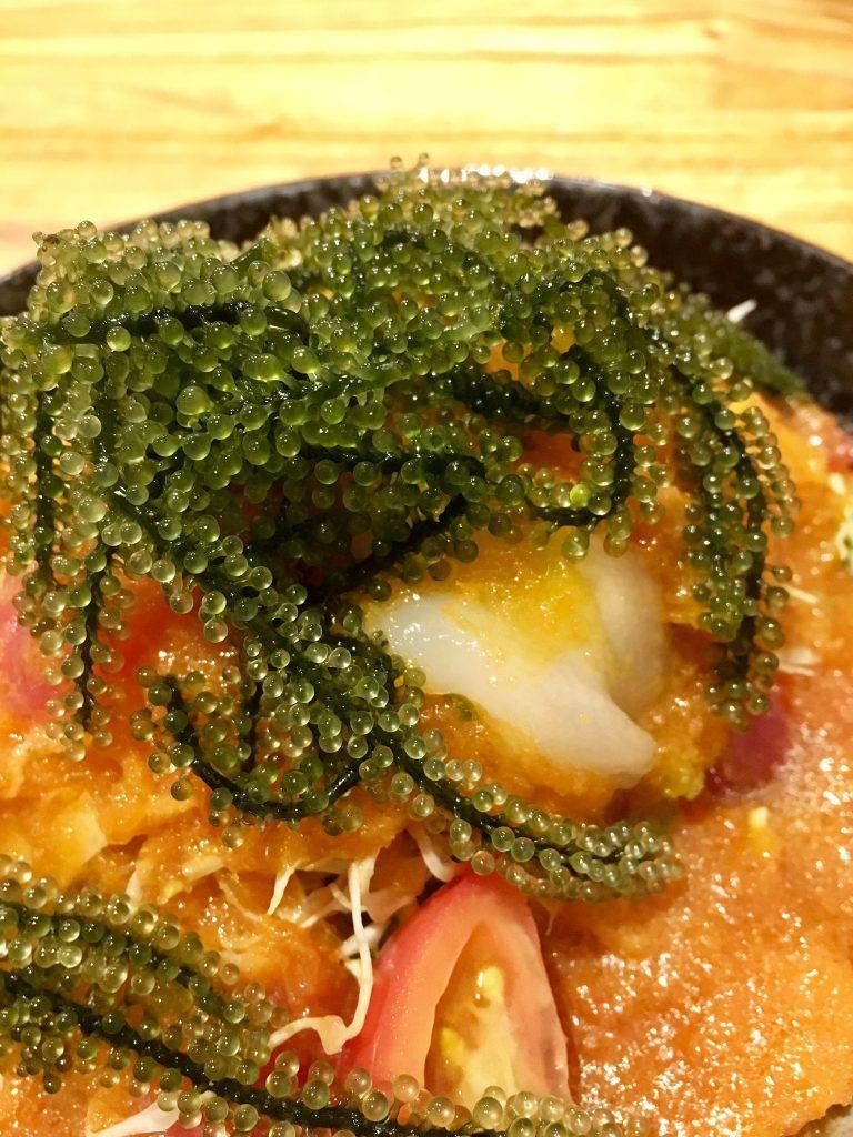 Yaeyama food: Umibudo seagrapes seaweed