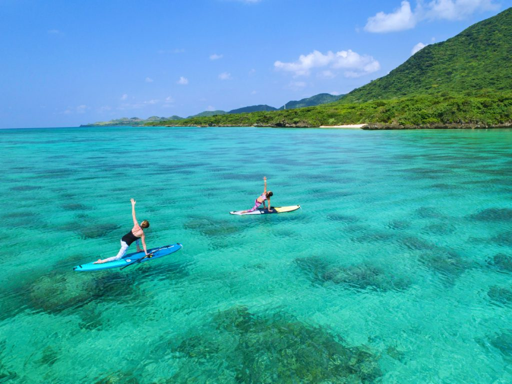 SUP yoga ishigaki okinawa japan